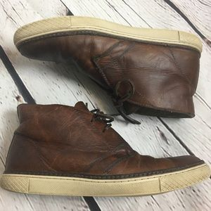 Frye Essex Leather & Sherling Chukka Boots size 10